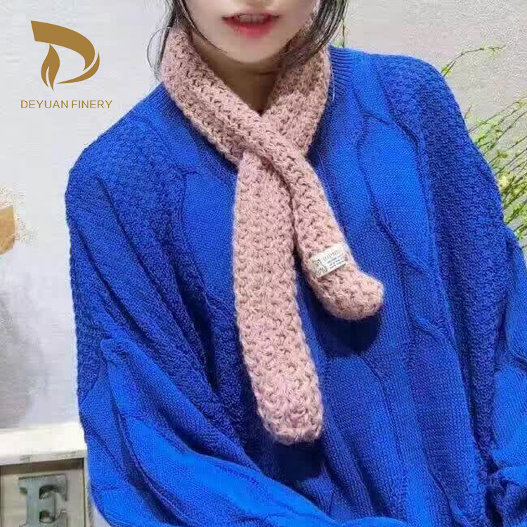 2017 winter autumn spring woman's scarves cute style knitted scarf soft Fashion decoration knitting scarves small(China (Mainland))