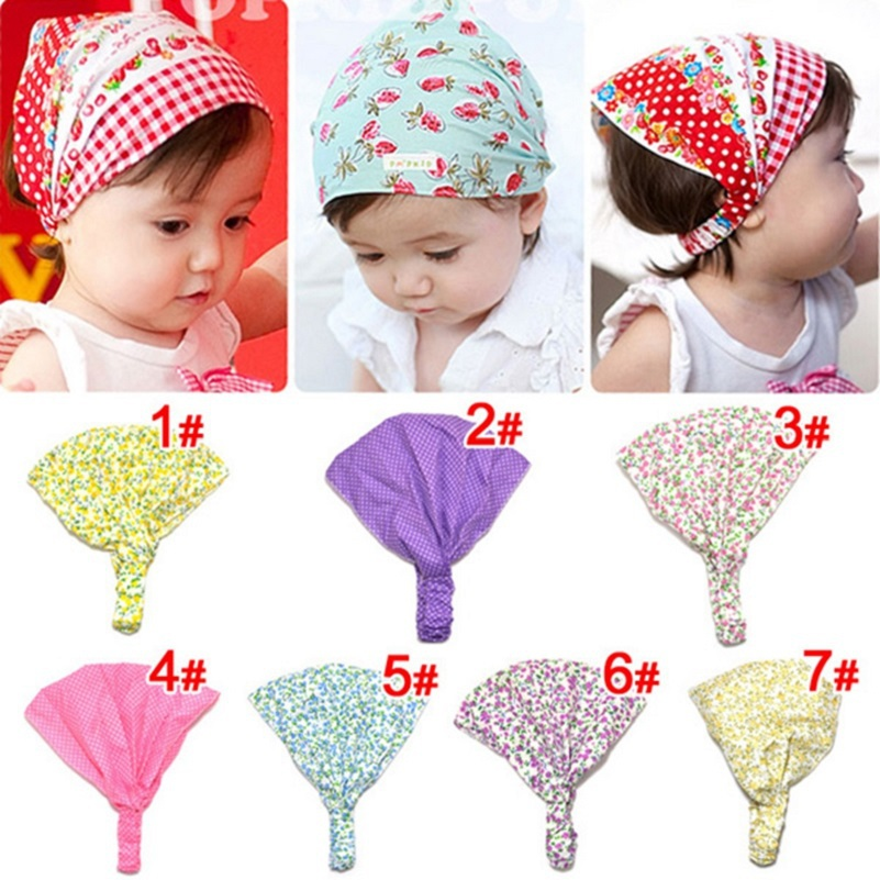 Baby girl print headbands Cotton bandana hair accessories bandage on head for baby girls Kids cut