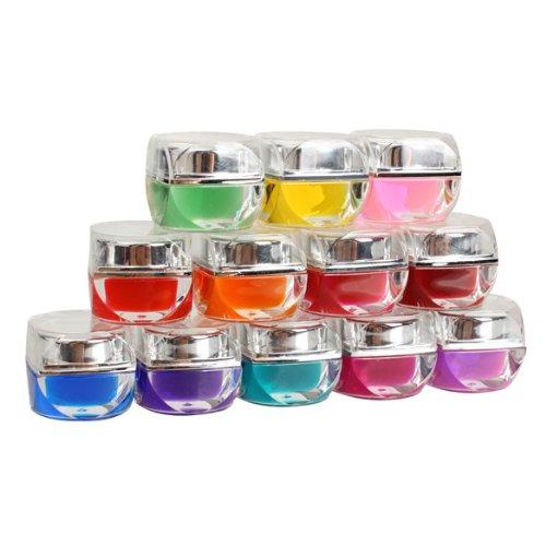 New 12 Colors 3D Nail Art Design Glaze UV Gel Builder Set DIY New(China (Mainland))