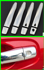 High quality! with smart hole abs door handle cover trim 8pcs for Nissan X-trail Rogue 2014 car styling(China (Mainland))