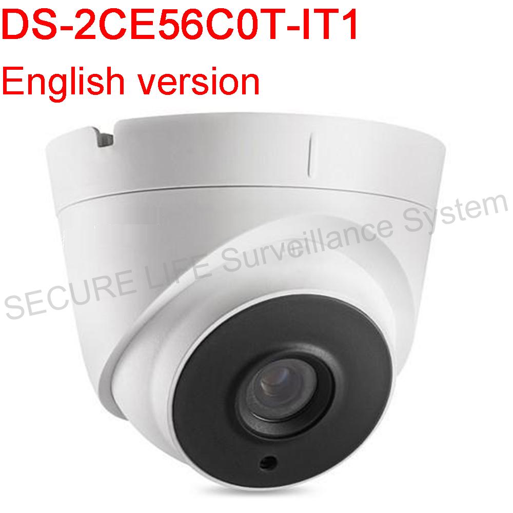 Фотография English Version DS-2CE56C0T-IT1 HD720P EXIR Turret Camera IP66 weatherproof Analog HD output, up to 720P resolution