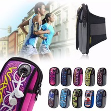 1 piece Outdoor Sports Running Wrist Pouch Wallet Mobile Cell Phone Arm Bag multicolor phone accessories