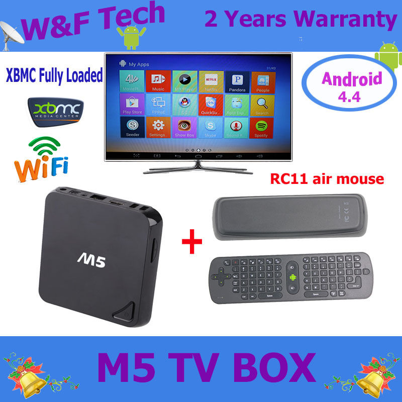 RC11 wireless keyboard for android tv box Quad core Amlogic S805 Kodi fully loaded support Bluetooth android 4.4 M5 tv box(China (Mainland))