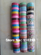 15mm*6 m DIY Scrapbooking Crafts Paper Album Cotton Fabric Flowers Masking Tape Decorative Adhesive Tapes - Store store