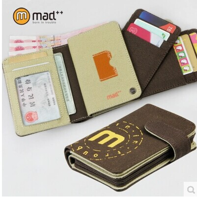Multiple menwomen casual drive license bank ID SD credit card case teenage student canvas wallet with coin pocket free shipping(China (Mainland))