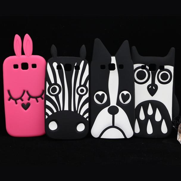 3D Cute Cartoon Zebra Dog Rabbit Owl Soft Silicone Case For Samsung Galaxy S3 i9300 / S3 Duos i9300i / S3 Neo i9301 Back Case(China (Mainland))