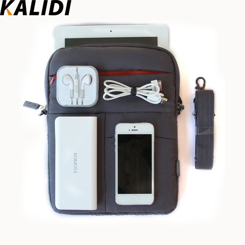 KALIDI Waterproof Notebook Laptop Shoulder Carry Bag Case for Ipad Mini / Air / Ipad 1 2 Tablet Sleeve Pouch Cover Messenger Bag(China (Mainland))