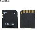 10Pcs Black Micro SD TransFlash TF To SD SDHC Memory Card Adapter Converter