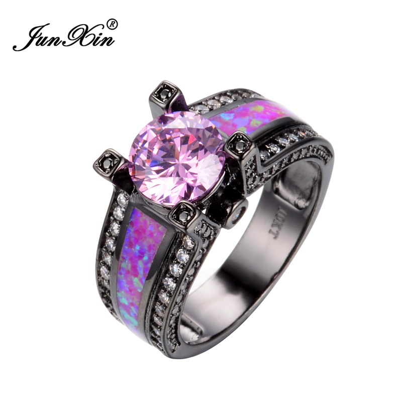 Pink Cz Wedding Ring Sets