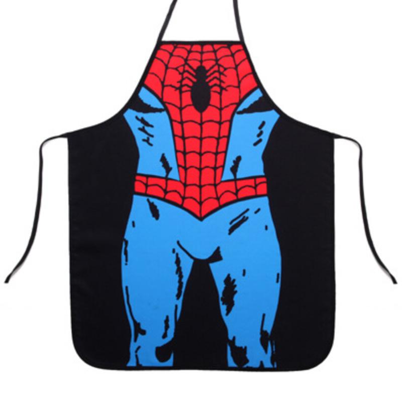 funny avental de cozinha men sexy spiderman delantal
