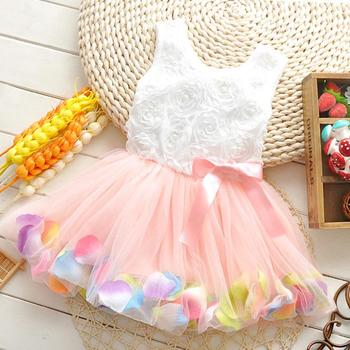 Free shipping 2014 new summer 0 1 2 3 Years old baby girls beautiful super fairy flowers sleeveless dress A232