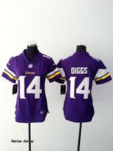 SALE Minnesota Vikings For Teddy Bridgewater Stefon Diggs Harrison Smith Adrian Peterson Anthony Barr lady BR-3,camouflage(China (Mainland))