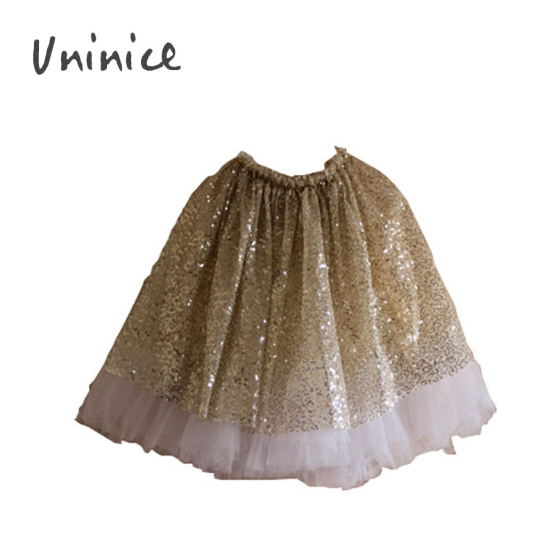 Wholesale 2015 Gold Sequin Skirt Girls Sparkle Silver Tutu Skirts Baby Toddler Long Tulle Skirt Princess Dance Wear Pettiskirt(China (Mainland))