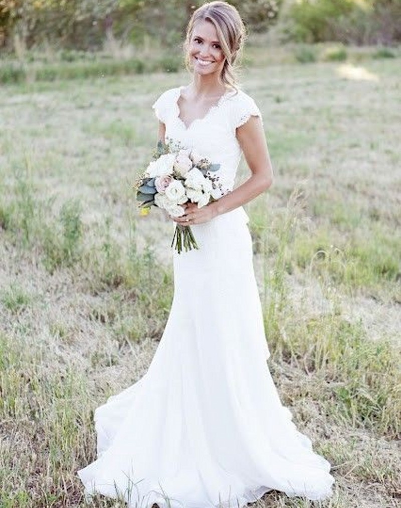 Western lace wedding dress - photo#9