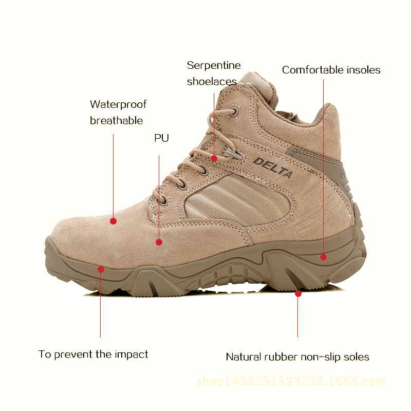 2015 SWAT brand combat men black ankle motorcycle desert hunting tactical military boots lace-up shoes botas militares size plus(China (Mainland))