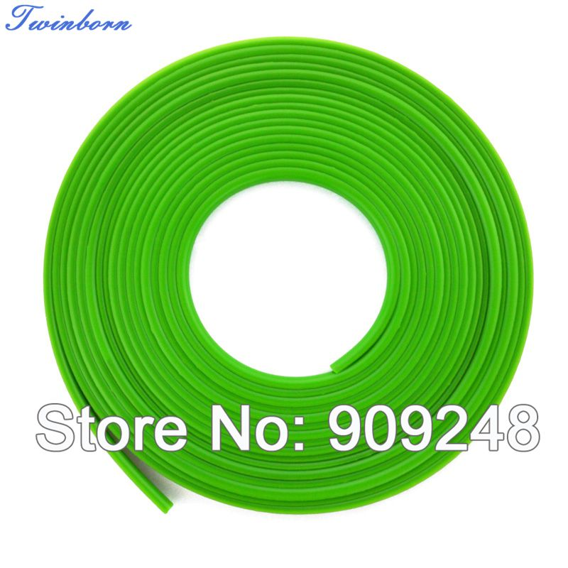 Rubber Sticker For Auto Wheel Rim Tires Edge Protector Guard Insert Trim 8 Meter Green Sticker For Car Styling(China (Mainland))