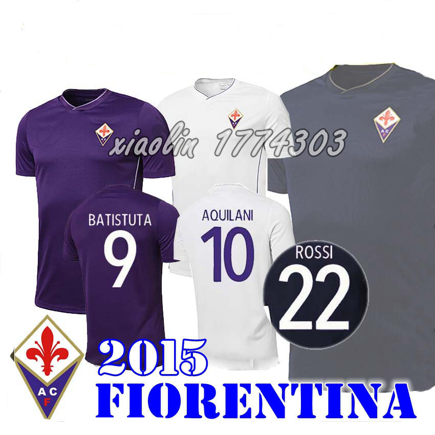 15 16 Florence fiorentina jersey 2016 Babacar Cuadrado Abramovich soccer ,BEST QUALITY THAI,CUSTOMIZED Divisa Firenze shirt(China (Mainland))