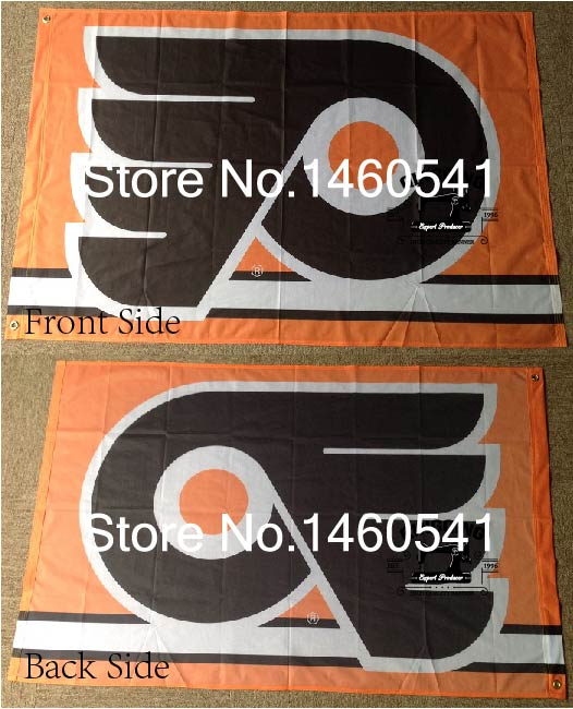 Philadelphia Flyers Flag 3ft x 5ft Polyester NHL Banner Philadelphia Flyers Flying Size No.4 144* 96cm QingQing Flag(China (Mainland))