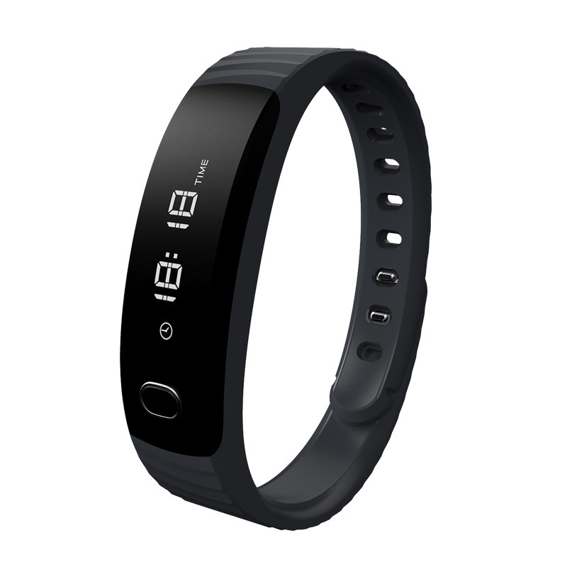 Skin friendly smart wristband OLED 0 84 passometer call message remind smartband with remote music control