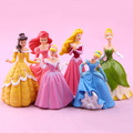 6pcs 10cm Anime Figure Collection Princess figures Bella Ariel Jasmine Cinderella Rapunzel PVC Figure Toys Best