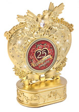 """Souvenirs birthday. the bird sculpture Russian copy trophy for 25 silver wedding collections.""""together forever"""" personality gift(China (Mainland))"""