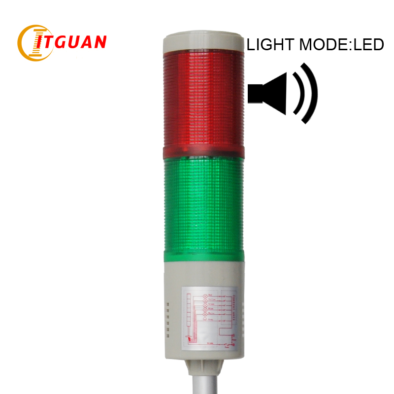 LTA-505 AC220V DC12V/24V 2 Layers LED Warning Lamp with Sound Emergency Indicator Lights Strobe Light Tower Signal Beacon<br><br>Aliexpress