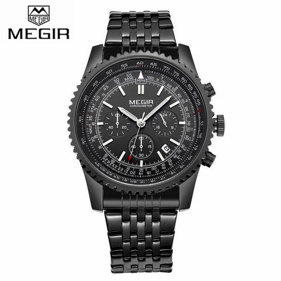 MEGIR Luxury Brand Watch Date Hour Fashion Sport Watches Men Military Watch Waterproof Full Steel Quartz Watch relogio masculino<br><br>Aliexpress