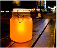 New fashion novel Waterproof Ambient Sun Jar Solar Lamp Solar powered RGB night light present Beautiful lights DY-1183(China (Mainland))