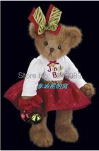 Free shipping 14 inch Bearington teddy bear with jingle bells creative new year gift soft plush toys