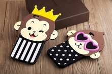 Cute 3D Cartoon Monkey Love Heart Eyes Case Soft Silicone Back Cover iPhone 5 5S 5SE 6 6S 4.7 inch Plus 5.5 - CHAO YE Mobile phone accessories shop store