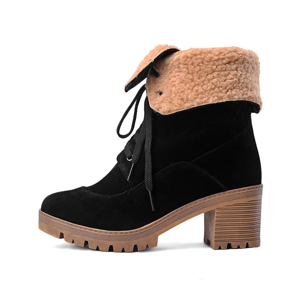 Online Get Cheap Women Snow Boots Size 11 Lace up -Aliexpress.com ...