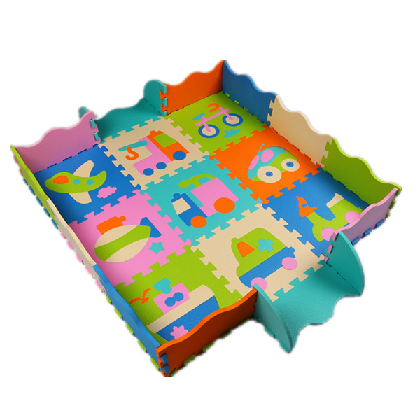 Eva Foam Play Mats Baby Crawling Mat Fence Puzzle Game Soft Floor Children Interlocking Developing Pad Game For Kids Gift(China (Mainland))