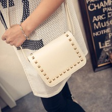 Buy 2017 Korean Style Women Messenger Bag Rivet PU Leather Crossbody Shoulder Bags Small Square Clutch Handbags Bolsa Feminina for $5.87 in AliExpress store