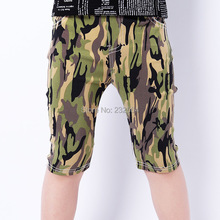 NEW 2014 summer casual pants High quality children pants five pants large children 4-12 aged boys camouflage pants Free shipping(China (Mainland))