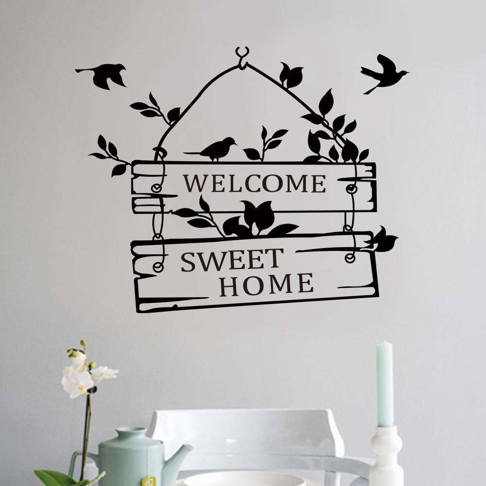 Hot New Removable Welcome Sweet Home Little Tree Sign Bedroom Living Room  Decor Art Vinyl Wall Sticker.