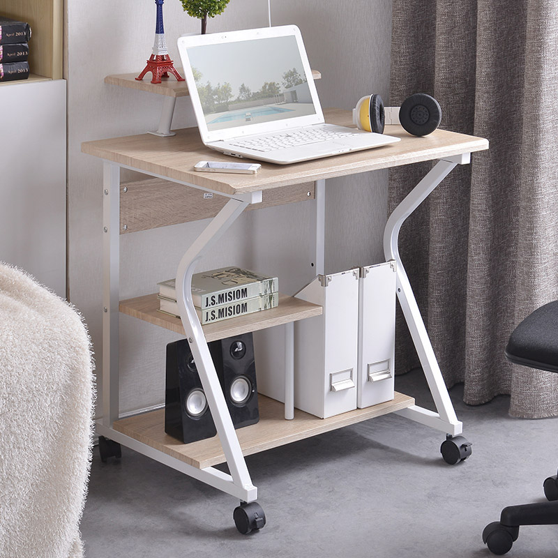Computer desk desktop home simple small table mobile modern minimalist desk IKEA bedroom study desk(China (Mainland))
