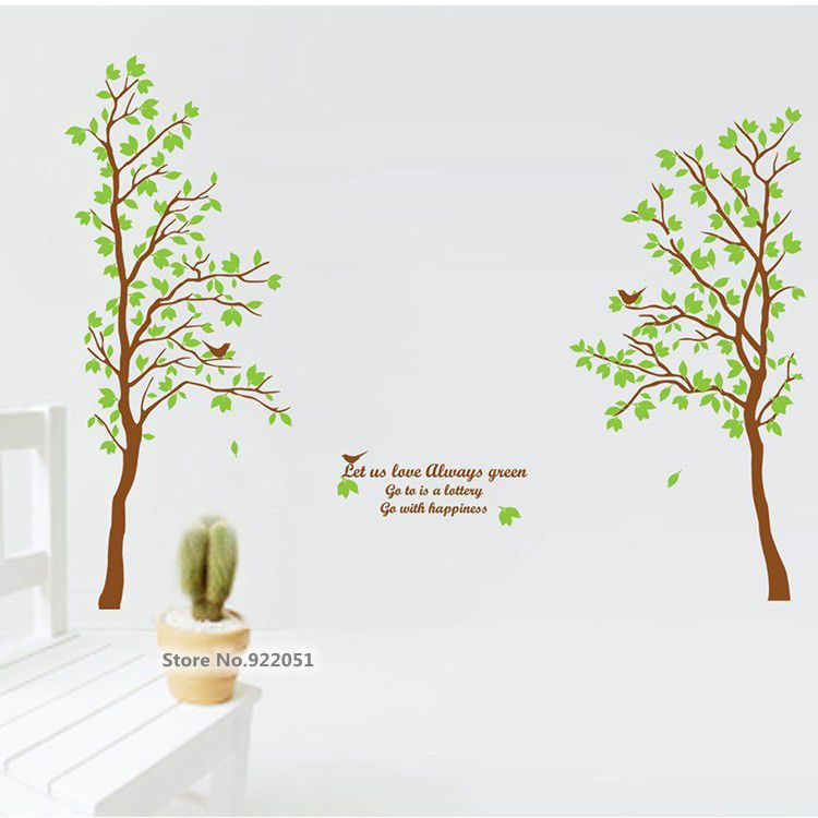 JM7125 Free Shipping New Arrival Extra Large 60*90cm A+B wall sticker  Couple tree kids room bedroom wall decals wall paper(China (Mainland))