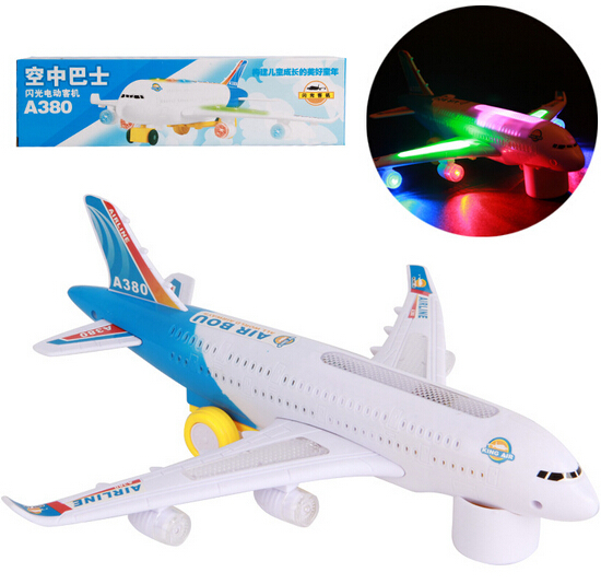 Airbus a380 Airlines Model Aeroplane Electric Toy Universal B/O Lights Sound(China (Mainland))