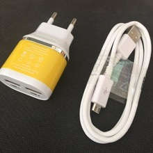 Buy NEW Universal 5V 2.1A EU Plug 2port USB Wall Charger + Micro USB Charger Cable For Huawei Samsung LG Sony HTC Lenovo Xiaomi ZTE for $4.89 in AliExpress store