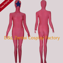 Free Shipping DHL 2015 Halloween Full Body Pink Star Super Hero Spandex Zentai Suit DC1702