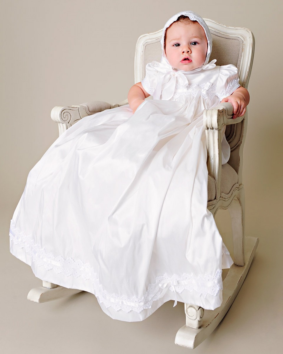 Lovely Silk Christening Outfits Draped Lace Appliques Infant White Ivory  Baptism Taffeta Baby Boy Clothing Christening Gowns <br><br>Aliexpress