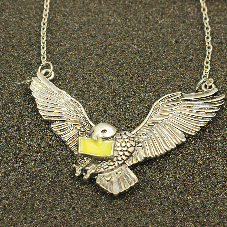Hot Movie HP Hyde Park Pet Owl Chain Necklace High Quality Hot Sale Women And Men Vintage Statement Necklace Wholesale(China (Mainland))
