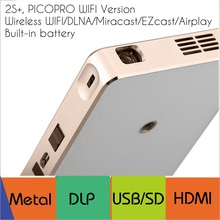 free shipping vivibright Micro Pico projector 2S+,150lms with WIFI/DLNA/Miracast/EZcast/Airplay,4K Decode,exceed mini Projector(China (Mainland))