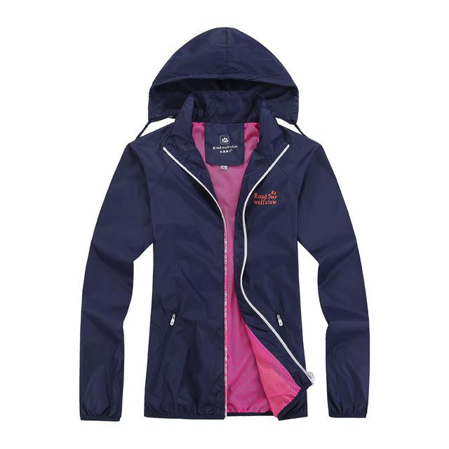 Spring Autumn Женщины's Sport Jacket Закрытый Outdoor Тонкий Windbreaker Молния ...