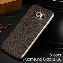 Case For Samsung Galaxy S6 Colorful Crocodile Texture Mobile Phone TPU Cover For Samsung G9200 Soft Phone Cases