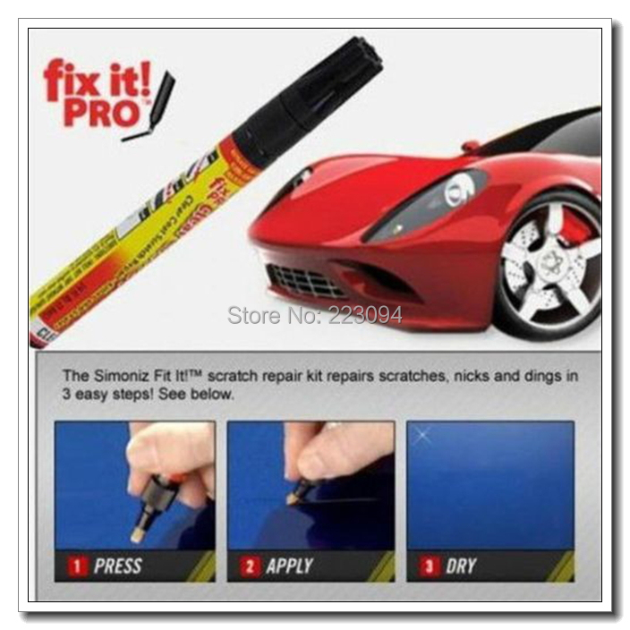 High quality New Fix It Pro Car Auto Smart Coat Paint Scratch Repair Remover Touch Up Pen 2pcs/lot , Dropshipping(China (Mainland))