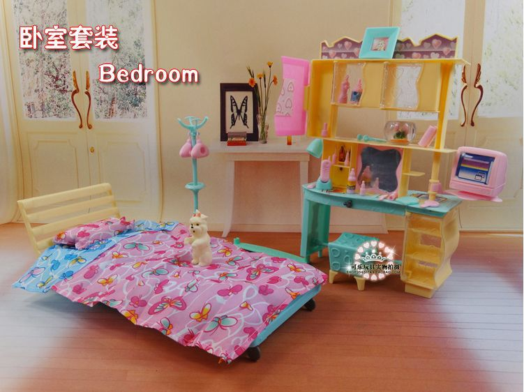 Buy new design doll bed cabinet set for Accessoire maison barbie