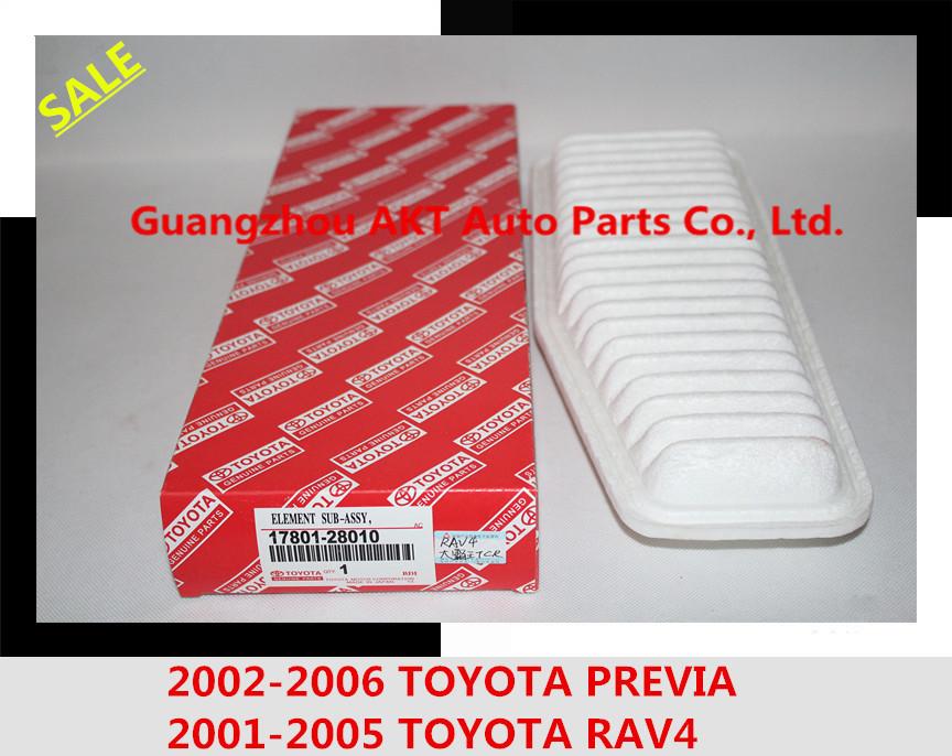01-05 RAV4 двигатель / 2002-2006 Toyota PREVIA воздушный фильтр подлинная Toyota OEM 17801-28010