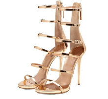 Fashion Gladiator Style Women Sandals Multi Color High Heels Ankle Wrap Shoes Spool High Heels Sexy Summer Shoes For Women(China (Mainland))