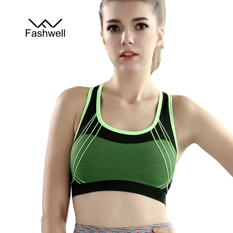 New women's fitness bra for exercise woman short vest padded wire free shockproof push up top vest workout bras underwear(China (Mainland))